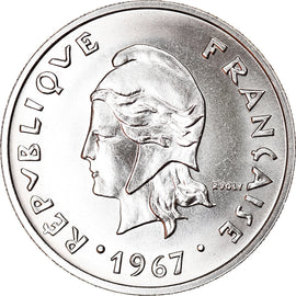 Monnaie, French Polynesia, 20 Francs, 1967, Paris, SUP+, Nickel, KM:6