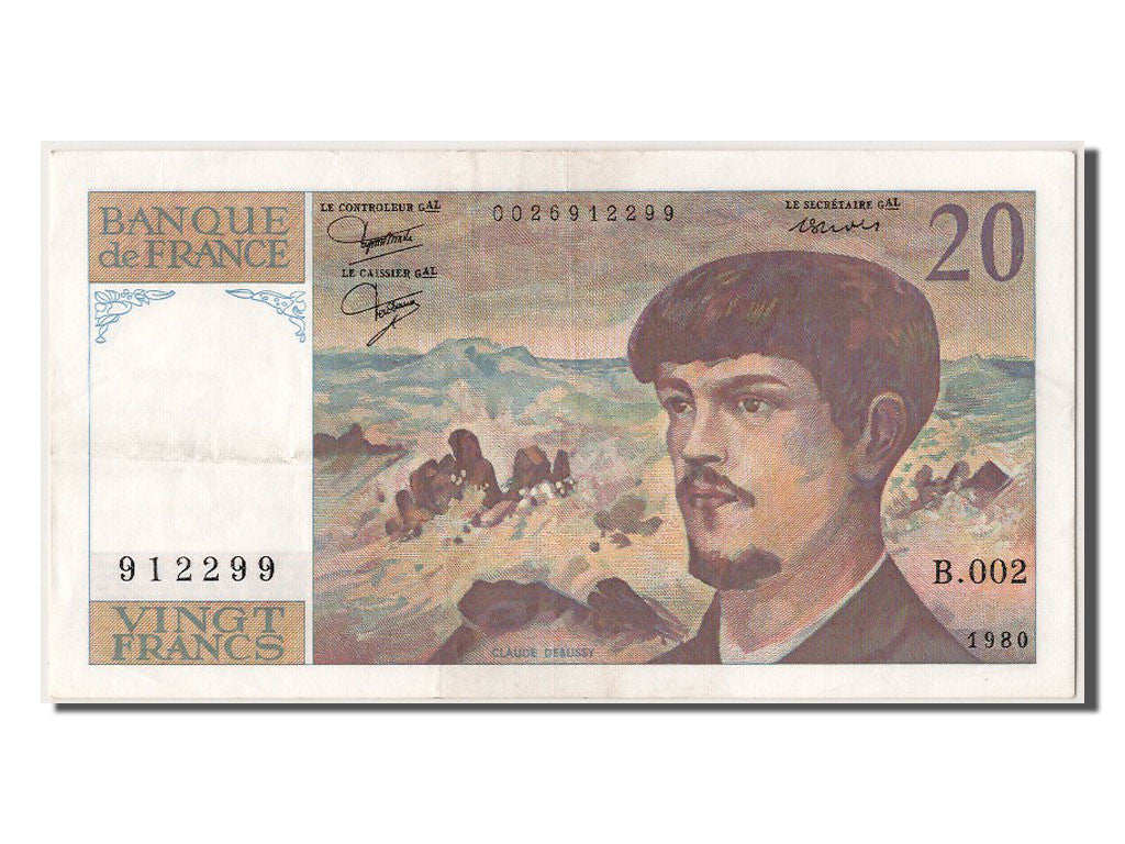 20 Francs Debussy type 1980