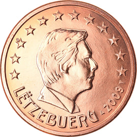 Luxembourg, 5 Euro Cent, 2009, TTB+, Copper Plated Steel, KM:77