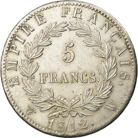 Premier Empire, 5 Francs Napoléon Ier au revers Empire 1812 W, KM 694.16