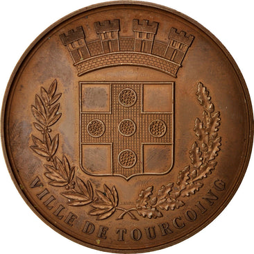 France, Medal, Ville de Tourcoing, Politics, Society, War, 1983, TTB+, Bronze