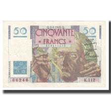 France, 50 Francs, Le Verrier, 1948, P. Rousseau and R. Favre-Gilly, 1948-04-08