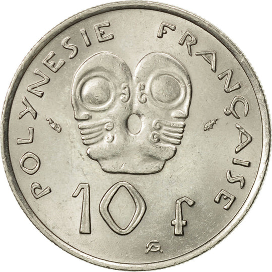 French Polynesia, 10 Francs, 1975, Paris, SUP+, Nickel, KM:8