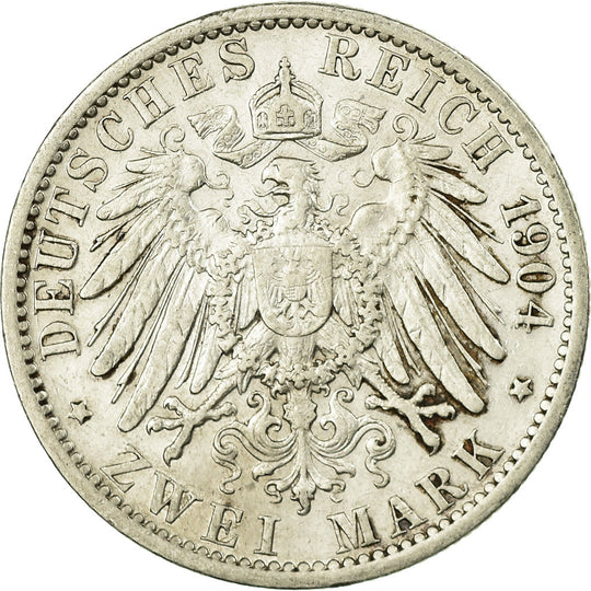 Monnaie, GERMANY - EMPIRE, Wilhelm II, Mark, 1904, Berlin, TTB, Argent, KM:14