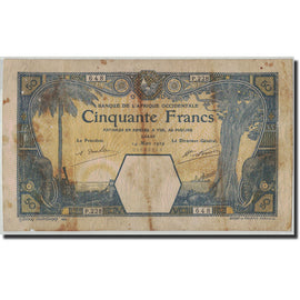 French West Africa, 50 Francs, 1929, KM:9Bc, 1929-03-14, B