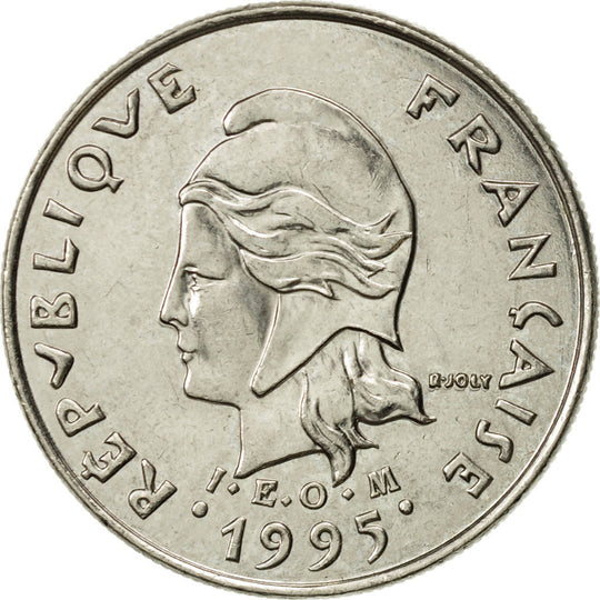 French Polynesia, 10 Francs, 1995, Paris, SUP, Nickel, KM:8