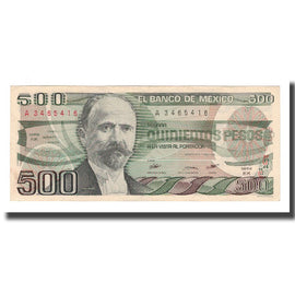 Billet, Mexique, 500 Pesos, 1984, 1984-08-07, KM:79b, SUP
