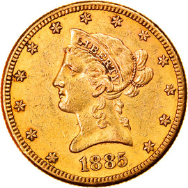 Monnaie, États-Unis, Coronet Head, $10, Eagle, 1885, U.S. Mint, San Francisco