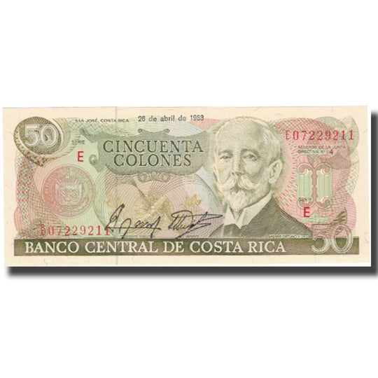 Billet, Costa Rica, 50 Colones, 1988-04-26, KM:253, NEUF
