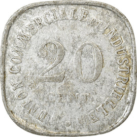 Monnaie, France, Union Commerciale et Industrielle, Vincennes, 20 Centimes
