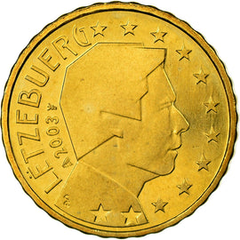 Luxembourg, 10 Euro Cent, 2003, FDC, Laiton, KM:78