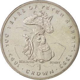 Gibraltar, Elisabeth II, One Crown Peter Rabbit 1993, KM 217