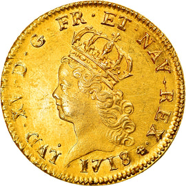 Monnaie, France, Louis XV, Louis d'or de Noailles, 2 Louis D'or, 1718/7, Paris