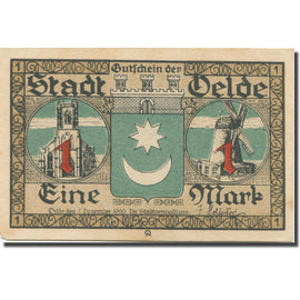 Billet, Allemagne, Oelde, 1 Mark, moulin, 1920, 1920-12-07, SPL, Mehl:1007.1