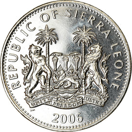 Monnaie, Sierra Leone, Dollar, 2006, British Royal Mint, Dinosaures -