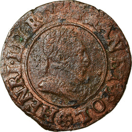 Monnaie, France, Henri III, Denier Tournois, Denier Tournois, 1589, Saint Lô