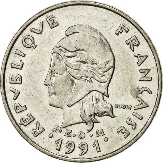French Polynesia, 10 Francs, 1991, Paris, TTB+, Nickel, KM:8