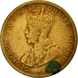 Monnaie, BRITISH WEST AFRICA, George V, Shilling, 1920, TB+, Tin-Brass, KM:12a