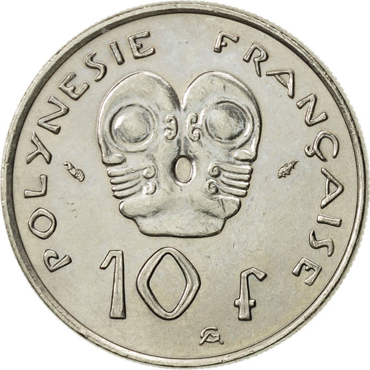 French Polynesia, 10 Francs, 1979, Paris, SPL, Nickel, KM:8