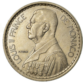 Monnaie, Monaco, Louis II, 20 Francs, Vingt, 1947, SUP, Copper-nickel