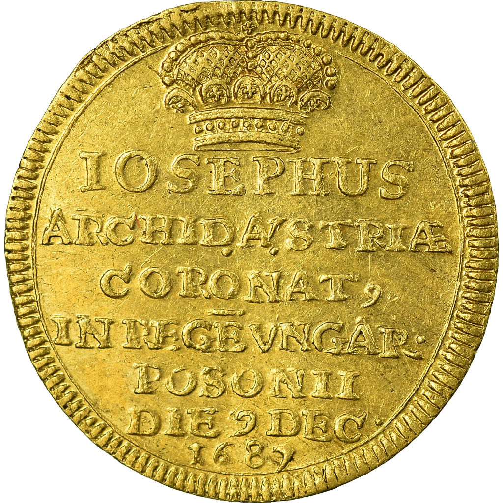 Hongrie, Jeton, Coronation of Joseph I of Habsburg, 1687, SUP, Or