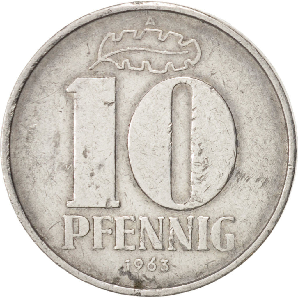 GERMAN-DEMOCRATIC REPUBLIC, 10 Pfennig, 1963, Berlin, TTB, Aluminium, KM:10