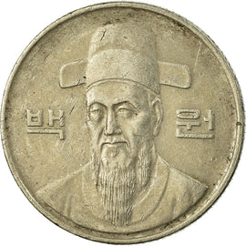 Monnaie, KOREA-SOUTH, 100 Won, 1989, TB+, Copper-nickel, KM:35.2