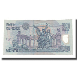 Billet, Mexique, 20 Pesos, 2001, 2001-05-17, KM:116b, TTB+