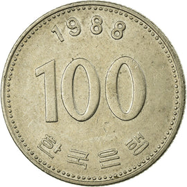 Monnaie, KOREA-SOUTH, 100 Won, 1988, TB+, Copper-nickel, KM:35.2