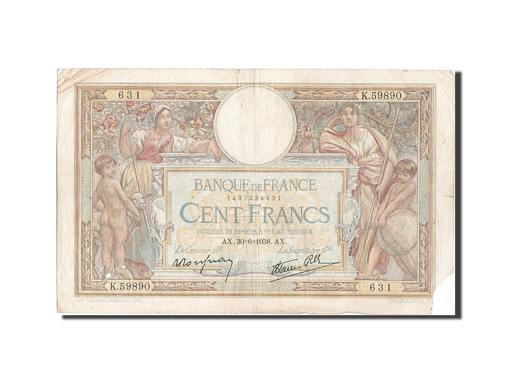 100 Francs type Luc Olivier Merson