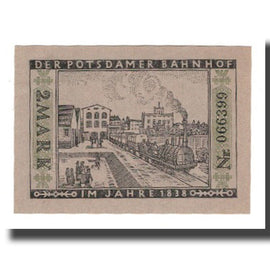 Billet, Allemagne, Berlin Stadt, 2 Mark, train, 1922, 1922-03-01, SUP, Mehl:92.3