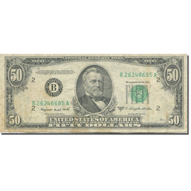 Billet, États-Unis, Fifty Dollars, 1950, Undated (1950), KM:2642, TB+
