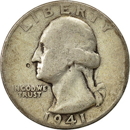 Monnaie, États-Unis, Washington Quarter, Quarter, 1941, U.S. Mint
