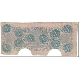 Billet, Confederate States of America, 10 Dollars, 1862, 1862-12-02, Richmond