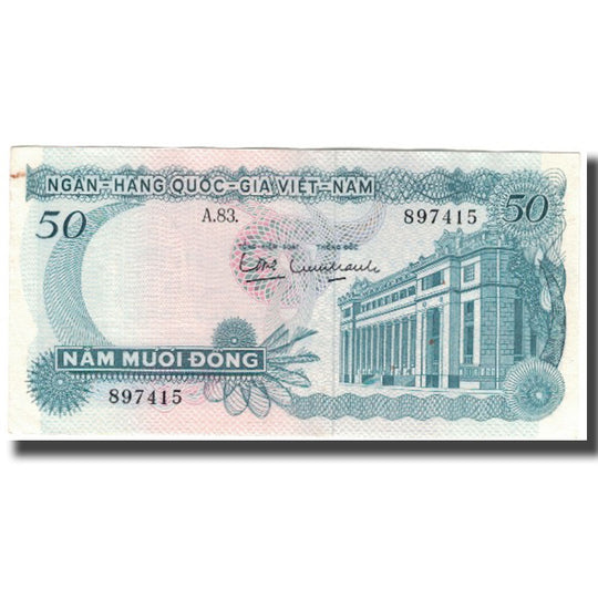 Billet, South Viet Nam, 50 D<ox>ng, KM:25a, SPL