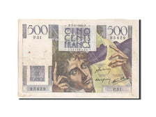 France, 500 Francs, 500 F 1945-1953 ''Chateaubriand'', 1945, 1945-11-07, KM:1...