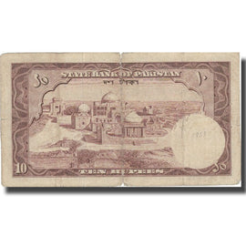 Billet, Pakistan, 10 Rupees, Undated (1951), KM:13, B+