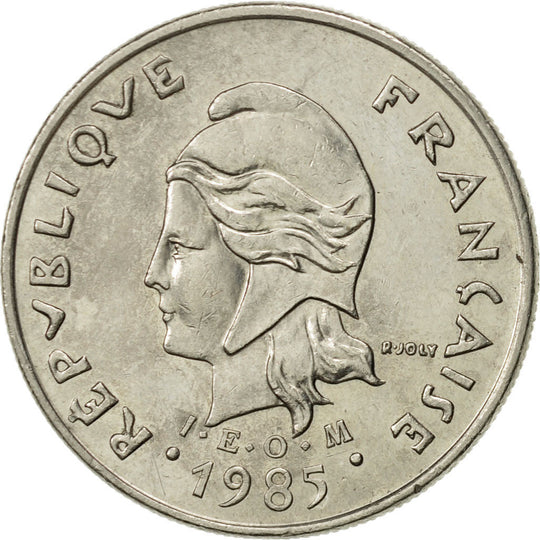 French Polynesia, 10 Francs, 1985, Paris, SUP, Nickel, KM:8