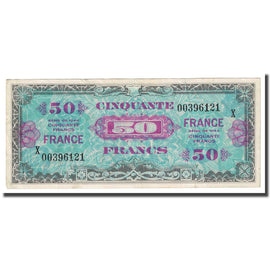 France, 50 Francs, Drapeau/France, 1944, TTB, Fayette:24.4, KM:122a