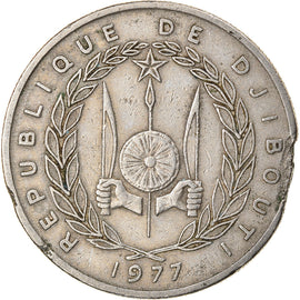 Monnaie, Djibouti, 50 Francs, 1977, Paris, B+, Copper-nickel, KM:25