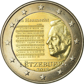 Luxembourg, 2 Euro, Hymne National, 2013, SUP, Bi-Metallic, KM:New