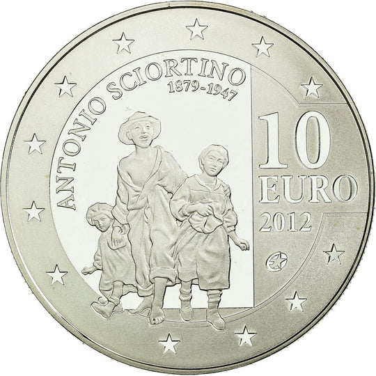 Malte, 10 Euro, 2012, Proof, FDC, Argent