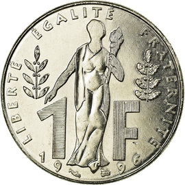 Monnaie, France, Jacques Rueff, Franc, 1996, Paris, SUP, Nickel, Gadoury:481