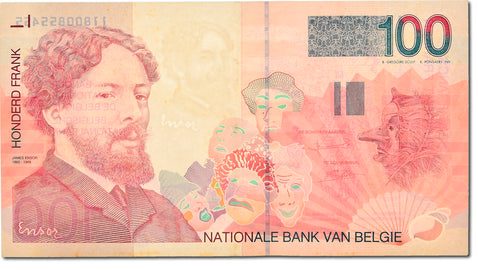 Billet, Belgique, 100 Francs, 1994-1997, Undated (1995-2001), KM:147, SUP