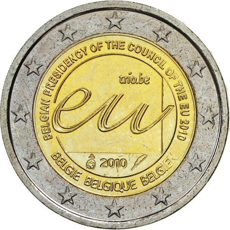 Belgique, 2 Euro, Presidency of the European Union, 2010, SPL, Bi-Metallic