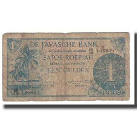 Billet, Netherlands Indies, 1 Gulden, 1948, KM:98, TB