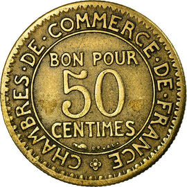 Monnaie, France, Chambre de commerce, 50 Centimes, 1924, Paris, TTB