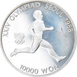 Monnaie, KOREA-SOUTH, 10000 Won, 1986, Proof, SUP+, Argent, KM:56