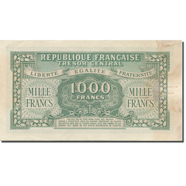 France, 1000 Francs, Marianne, 1945, 1945, SUP, Fayette:VF 13.02, KM:107
