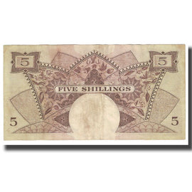 Billet, EAST AFRICA, 5 Shillings, KM:41a, TB